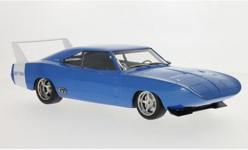 Dodge Charger 1/18 Greenlight Daytona Custom metallise blue/white 1969 les portes et capos fermé diecast model cars