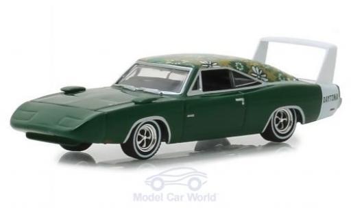Dodge Charger 1/64 Greenlight green/Dekor 1969 diecast model cars