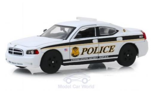 Dodge Charger 1/43 Greenlight Pursuit U.S. Secret Service Police 2006 modellautos
