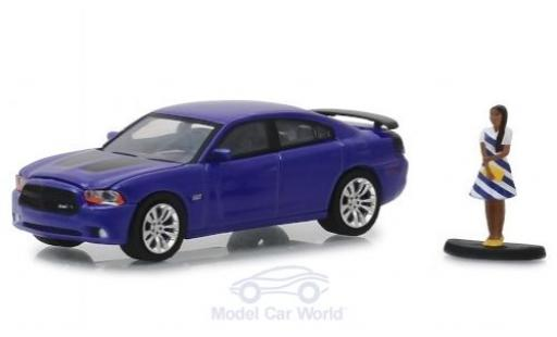 Dodge Charger 1/64 Greenlight Super Bee violett 2013 mit Figur modellautos