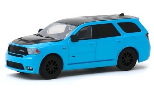 Dodge Durango 1/64 Greenlight SRT metallise bleue/matt-noire 2010 MOPAR miniature