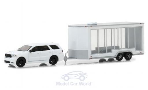 Dodge Durango 1/64 Greenlight white 2018 mit Transportanhänger diecast