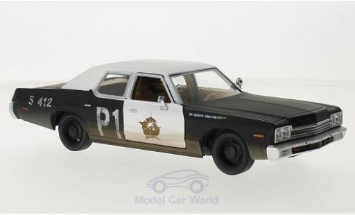 Dodge Monaco 1974 1/24 Greenlight noire/blanche Blues Brougehers 1974 Bluesmobile miniature