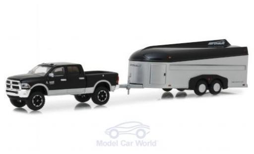 Dodge RAM 1/64 Greenlight 2500 black/grey 2017 mit Aerovault Anhänger diecast