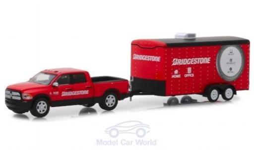 Dodge RAM 1/64 Greenlight Ram red Bridgestone 2017 mit Anhänger diecast