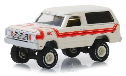 Dodge RAM 1/64 Greenlight Ramcharger blanche/orange 1978 miniature
