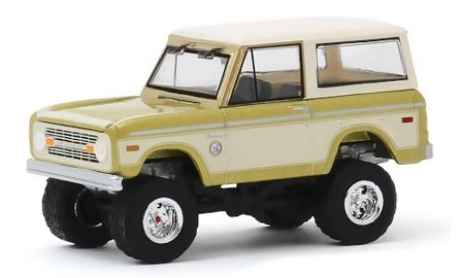 Ford Bronco 1/64 Greenlight gold/blanche Colorado Gold Rush 76 1976 miniature