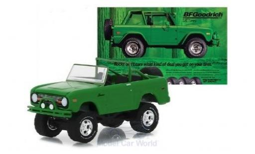 Ford Bronco 1/64 Greenlight verte 1971 miniature