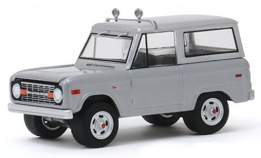 Ford Bronco 1/64 Greenlight grise Speed 1970 miniature