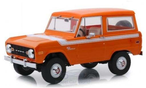 Ford Bronco 1/18 Greenlight Special Decor orange/blanche 1977 miniature