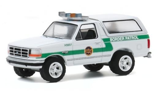 Ford Bronco 1/64 Greenlight U.S. Customs and Border Prougeection 1993 Border Patrol miniature