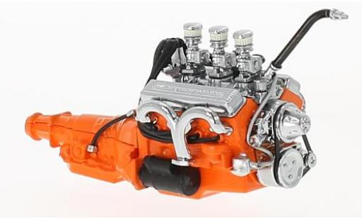 Ford Custom 1/18 Greenlight 327 orange 1932 Small Block moteur with Transmission miniature