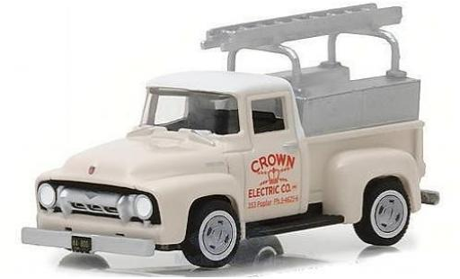 Ford F-1 1/64 Greenlight 00 beige Crown Eletric Co. 1954 mit Leiter diecast