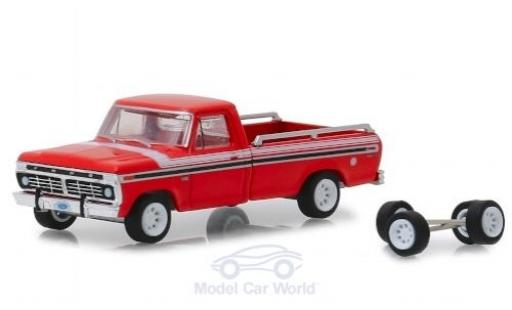 Ford F-1 1/64 Greenlight 00 Explorer rouge/blanche 1975 mit Ersatzräder miniature