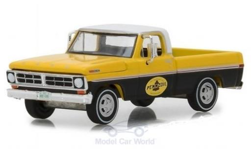 Ford F-1 1/64 Greenlight 00 jaune/noire Pennzoil 1972 miniature