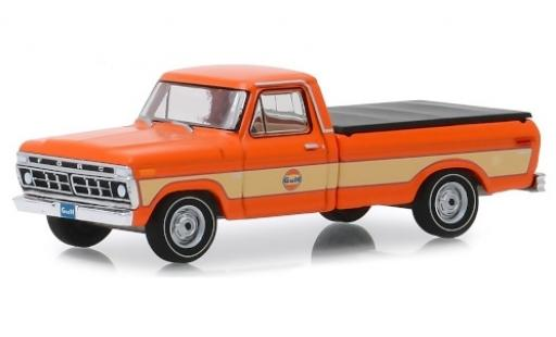 Ford F-1 1/64 Greenlight 00 orange/beige Gulf 1976 miniature
