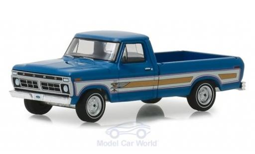 Ford F-1 1/64 Greenlight 00 Pick-Up blau 1976 modellautos