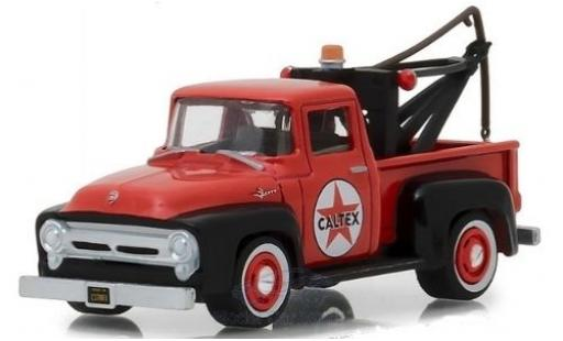 Ford F-1 1/64 Greenlight 00 rouge Caltex 1956 mit Abschlepphaken miniature