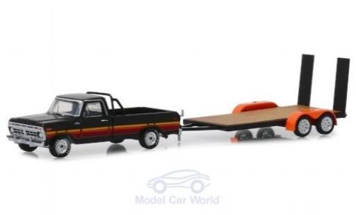 Ford F-1 1/64 Greenlight 00 noire/Dekor 2017 mit Flatbed Trailer miniature