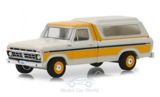 Ford F-1 1/64 Greenlight 00 blanche/orange 1977 miniature