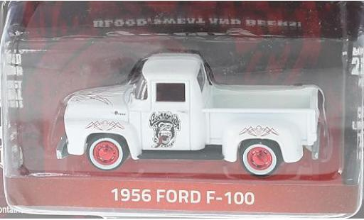 Ford F-1 1/64 Greenlight 00 blanche/rouge Gas Monkey Garage 1956 miniature