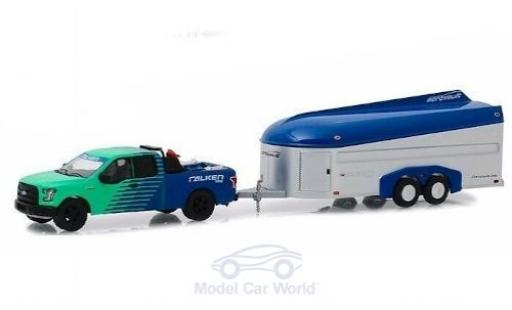 Ford F-1 1/64 Greenlight 50 Falken Tires 2017 with Aerovault Trailer miniature