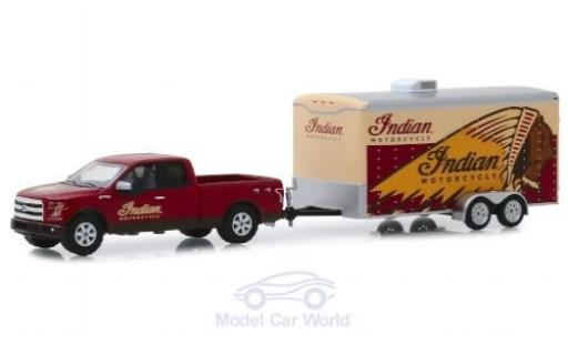 Ford F-1 1/64 Greenlight 50 Indian Motorcycle 2015 mit Transportanhänger miniature