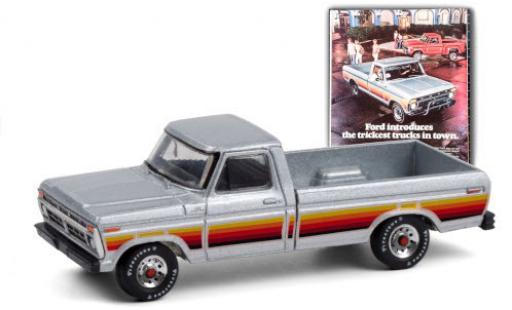 Ford F-1 1/64 Greenlight 50 grise/Dekor 1977 miniature