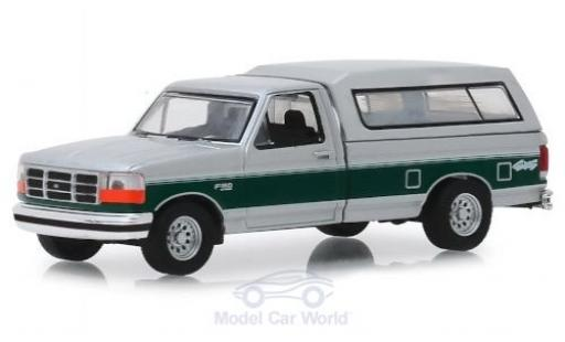 Ford F-1 1/64 Greenlight 50 XLT grise/verte 1996 miniature