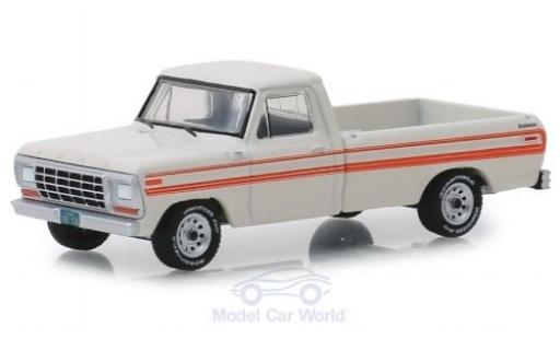 Ford F-250 1/64 Greenlight Explorer blanche/orange 1979 miniature