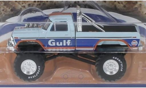 Ford F-250 1/64 Greenlight Monster Truck Gulf miniature