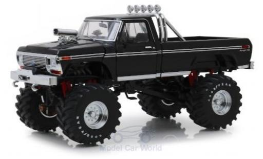 Ford F-250 1/18 Greenlight Monster Truck noire 1979 mit 48 Zoll-Bereifung miniature