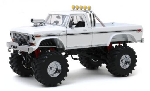 Ford F-250 1/18 Greenlight Monster Truck blanche 1979 avec 48 Zoll-Bereifung miniature