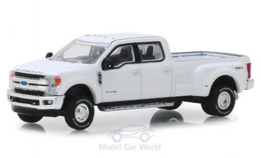 Ford F-350 1/64 Greenlight Lariat blanche 2018 miniature