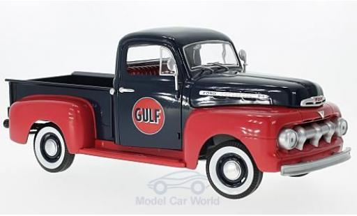 Ford F1 1/18 Greenlight Pick-Up bleue/rouge Gulf 1951 miniature