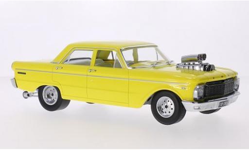 Ford Falcon 1/18 Greenlight (XP) 4-Door Saloon Tuning jaune RHD 1965 les portes et capos fermé miniature