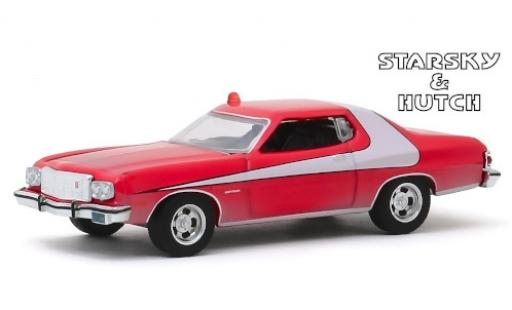 Ford Gran Torino 1/64 Greenlight rouge/blanche Starsky & Hutch 1976 miniature