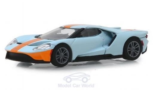 Ford GT 1/64 Greenlight Heritage Edition bleue/orange 2019 miniature