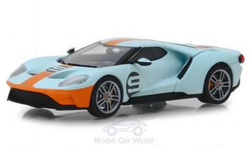 Ford GT 1/43 Greenlight Heritage Edition bleue/orange 2019 No.9 miniature