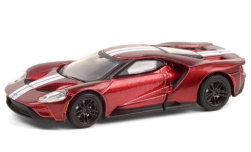 Ford GT 1/64 Greenlight metallise rouge/blanche 2017 miniature