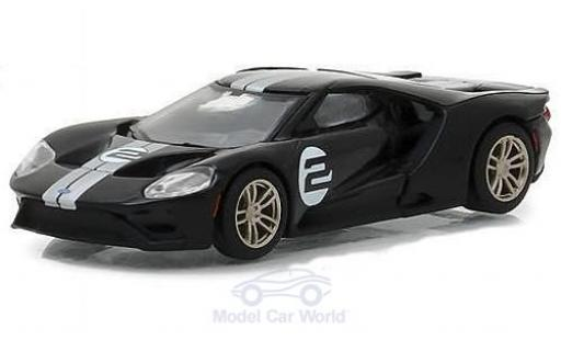 Ford GT 40 1/64 Greenlight noire 2017 1966 #2 40 Mk II Tribute miniature