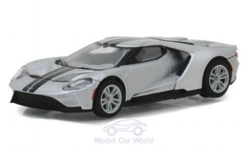 Ford GT 1/64 Greenlight grise/noire 2017 miniature