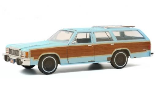 Ford LTD 1/18 Greenlight Country Squire bleue/Dekor Terminator 2 - Judgment Day 1979 avec Witterungsspuren miniature