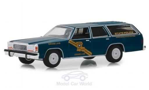 Ford LTD 1/64 Greenlight Crown Victoria Wagon Louisiana State Police 1987 miniature