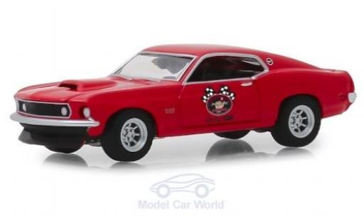 Ford Mustang 1/64 Greenlight BOSS 429 rouge/Dekor 1969 miniature