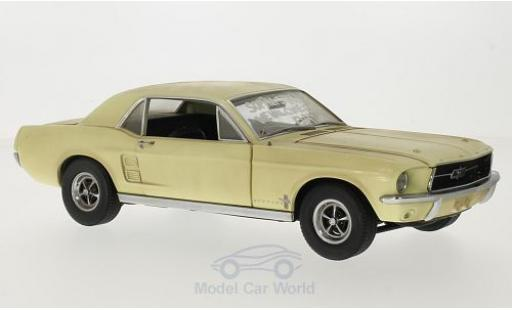 Ford Mustang 1967 1/18 Greenlight Coupe beige/Dekor The Walking Dead inklusive Accessoires miniature