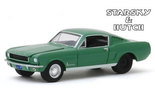 Ford Mustang 1/64 Greenlight Fastback verte Starsky & Hutch 1966 miniature