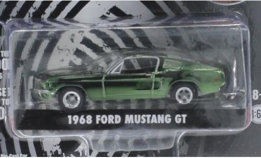 Ford Mustang GT 1/64 Greenlight GT chrom/grün Bullitt 1968 miniature