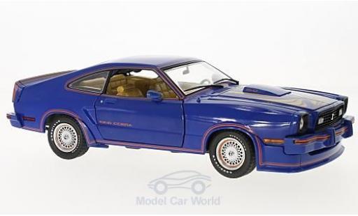 Ford Mustang 1/18 Greenlight II bleue Film King Cobra 1978 miniature