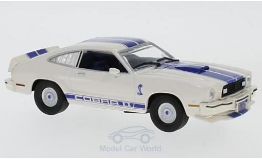 Ford Mustang 1/43 Greenlight II Cobra II beige/bleue Charlies Angels 1976 miniature